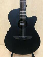 "38"" Haze HSDP-836CEQMBK Matt Ebonized Acoustic/Classical Guitar+Free Gig Bag"