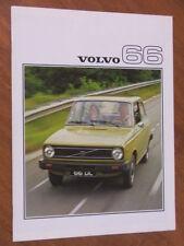 1976 Volvo 66 range original 20 page brochure