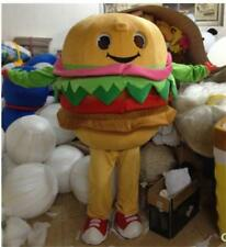 hamburger mascot costume adult Fancy dress free postage to UK