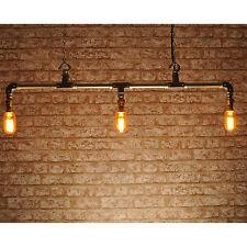 Il nuovo stile industriale BRADFORD 3 VIE Ciondolo Luce Illuminazione Retrò Vintage