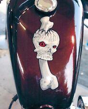 8x10 Handpainted Motorcycle Art Photo Mural Portfolio Page Airbrush Artist-Gift