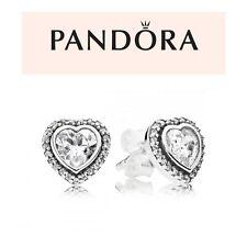 Pandora Silver Sparkling Hearts Stud Earrings
