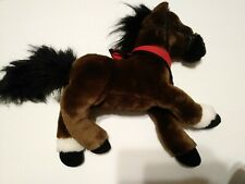 "Legendary WELLS FARGO PLUSH 15"" MAGGIE HORSE w/ SCARF Brown Pony Stuffed Animal"