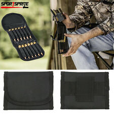 Tactical 12 Round Shotgun Rifle Ammo Buttstock Shell Holder Cartridge 12G Black