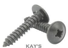 FLANGE HEAD SELF TAPPING SCREWS, BLACK PHOSPHATE FLANGED TAPPERS 6, 8, 10 GAUGE