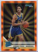 Jordan Poole Orange Holo Laser Rated Rookie Card #226 2019-20 Donruss Basketball