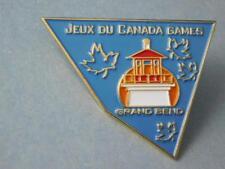 CANADA GAMES GRAND BEND ONTARIO BEACH TOWN HAT VEST PIN VINTAGE SOUVENIR BUTTON
