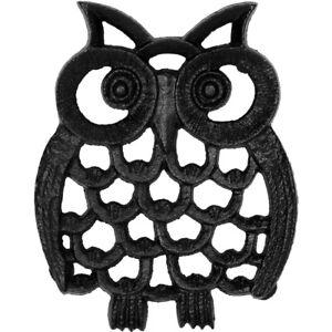 Owl Cast Iron Teapot Holder Table Hot Pad Trivet Mat Heat Coaster Insulation New