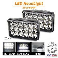 "2pcs 4x6""  LED Headlight DRL light Hi/Lo Crystal Clear Sealed Beam Headlamps"