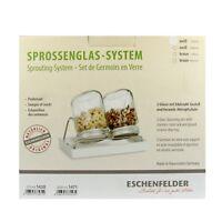 Eschenfelder Sprossenglas Keimglas System 2 Schale weiß 750 ml
