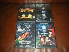 LOT DE 4 DVD NEUFS SOUS BLISTER : BATMAN + B. ET ROBIN + B. FOREVER + B. LE DEFI