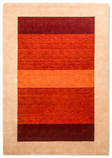 Gabbeh Teppich Loribaft Design Beige Rot Orange Verschiedene Größen