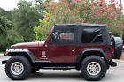 Black 97-06 Jeep Wrangler Soft Top Upper Skins Tinted Windows Premium Fabric
