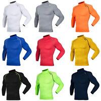DRSKIN Men Compression Base Layer Under Tee Shirt Long Sleeve Mock Neck Top Gym