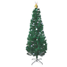 Holiday 7 Ft Pre Lit Multi Color Led Fiber Optic Christmas Tree With Angel Stand