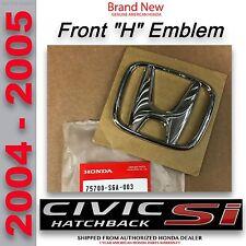 OEM Honda HATCHBACK Si  Front Grille H Emblem 2004 - 2005   (75700-S6A-003HATCH)