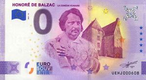 37 DESCARTES Honoré de Balzac, La comédie humaine, 2021, Billet Euro Souvenir