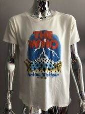 Junk Food The Who Pontiac, Michigan 1982 Tour Cream Color T-SHIRT  Size XS