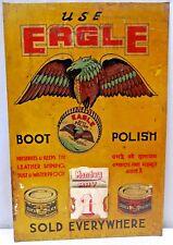 Vintage Eagle Boot Polish Advertising Tin Sign Calendar Graphics Flying Eagle #2