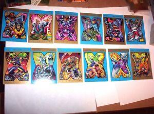 1992 MARVEL X-MEN X-CUTIONER'S SONG HUNTER PREY PROMO 12 CARD SET! WOLVERINE!
