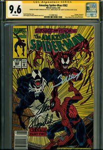 AMAZING SPIDER-MAN #362 CGC SS 9.6 SIGNED BY STAN LEE, BAGLEY, EMBERLIN-CARNAGE!