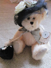 VINTAGE (2002) BOYD'S BEARS' CECELIA T. BEARINGTON 9 INCH MOHAIR BEAR #590056