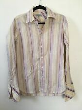 Ted Baker Formal Striped Shirt Size 2 (UK S) Collar Cuffed Classic Cotton