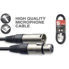 STAGG CÂBLE MÂLE XLR à femelle XLR Microphone Micro Fil 3m mono équilibré SMC3