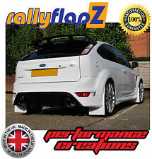 rallyflapZ to fit FORD FOCUS RS MK2 (2009-2011)Mud Flaps Mudflaps White 4mm PVC
