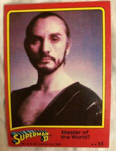 Superman II Master of the World? Trading Card  #53 Terence Stamp as General Zod
