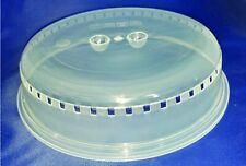 "Plastic Microwave Plate Cover Clear Steam Vent Splatter Lid 10.25"" Food Dish New"