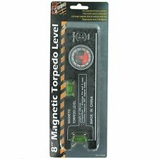 8 Inch Magnetic Torpedo Level with Angle Finder 360 Degree