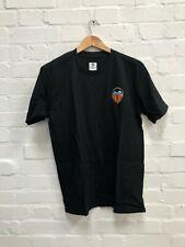Valencia CF Men's Club Logo T-Shirt - Medium - Black - New