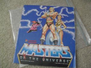 Vintage 1983 Panini MOTU Masters of the Universe Sticker Album w Most Stickers