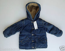 4e9857fdc First Impressions Baby Denim/Sherpa Hooded Jacket NWT size 18 Months G82769