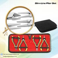 "Prestige Jewellery making tools Kit Slim Line Super Fine Pliers Set 5"" # 696"