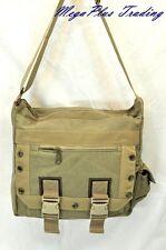 Ahmik Casual Canvas Cross Body Shoulder Messenger Bag B3004 Khaki
