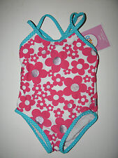 NWT Circo Infant BABY/Toddler Girl One-Pc BATHING SUIT~Size 12M~UPF50+UV Protect