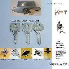 GARAGE DOOR HANDLE KEYS CUT APEX CARDALE COMPTON BIRTLEY HENDERSON MARLEY WESSEX