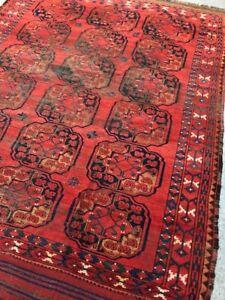an antique ersari afghan carpet  No. 7393  6.9x8.0