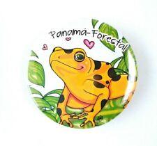 Golden Frog Panamá Rainforest Magnets Souvenirs Illustrated Print Art