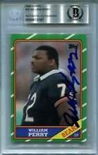 BEARS WILLIAM PERRY signed autographed 1986 TOPPS ROOKIE CARD RC BECKETT (BAS)