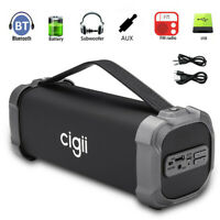 CIGII Portable Wireless bluetooth Speaker Bass Stereo Subwoofer FM Radio AUX ME