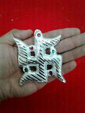 White metal aluminum Swastik hindu religious wall piece 3 inches USA Seller