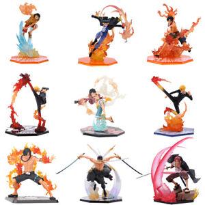 "6"" Anime One Piece Luffy Ace Sabo Shanks Zoro Law Sanji Figure Model Toy Gift"