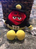 "M&M World Red 14"" Fireman Firefighter Plush Stuffed Toy"