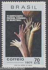 BRAZIL - 1971 Women's Basketball (1v) UM / MNH*