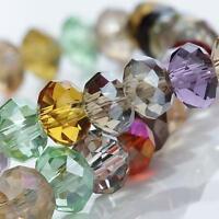 6/8/10/12mm Glasperlen facettiert rund Crystal Perlen Glasschliffperlen