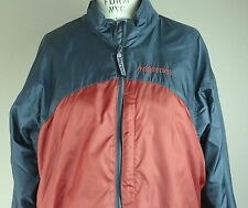 Marmot Jacket Coat Women's Large L Rain Nylon/Polyester Lined Orange Gray Vented