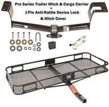 2012-2016 HONDA CRV TRAILER TOW HITCH + CARGO BASKET CARRIER + SILENT HITCH PIN